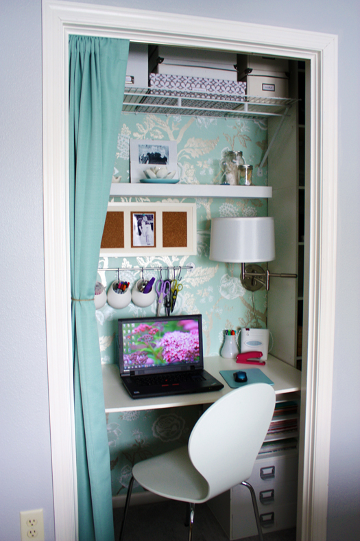 Transform your closet into a home office virtual vocations for Transform small closet space