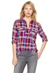 Plaid camp shirt - pink plaid
