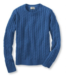 LL Bean - Cotton Cable Crewneck Sweater