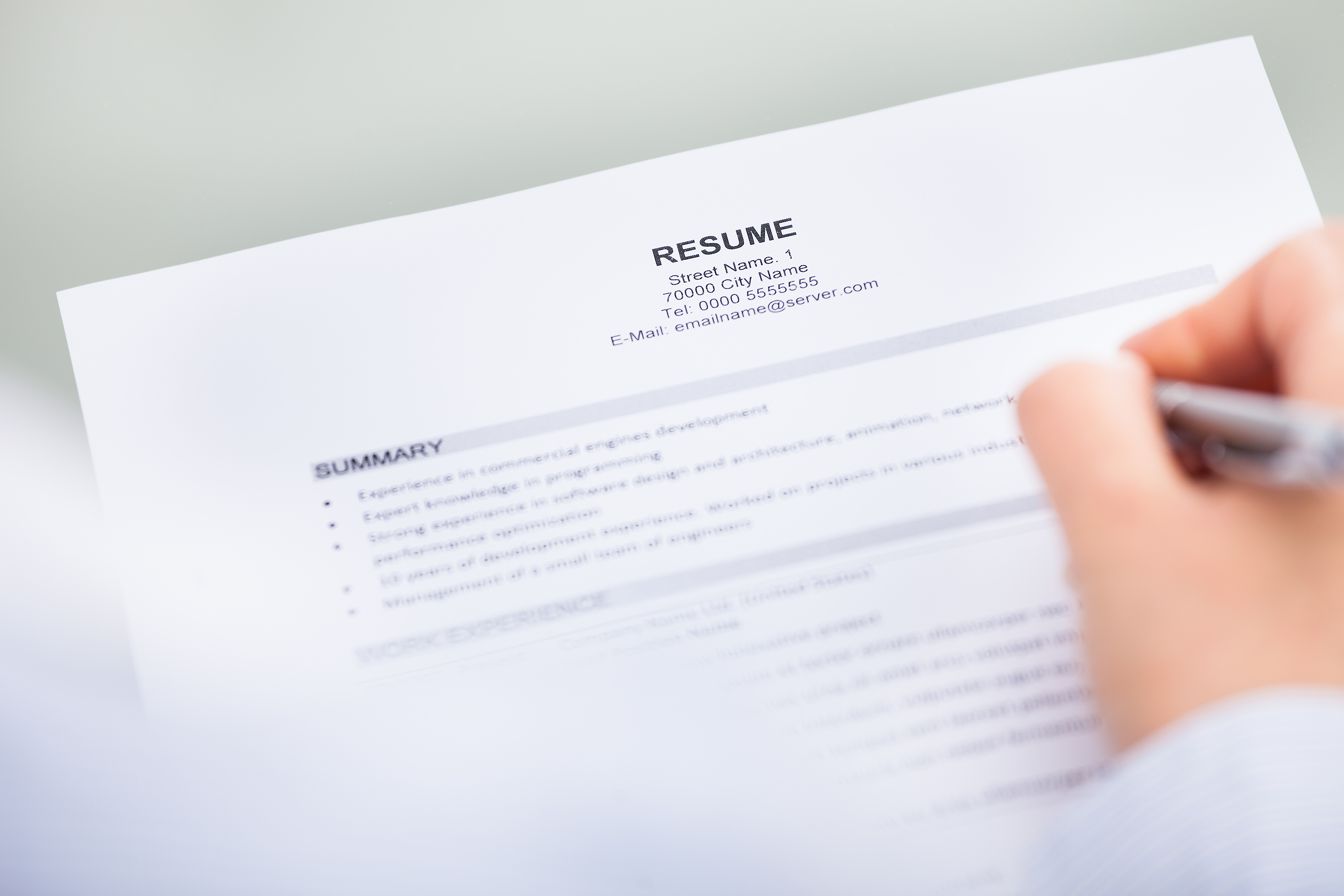 resume gaps in employment