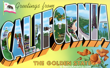 Greetings from california ca postcard 4 telecommute and remote greetings from california ca postcard 4 m4hsunfo Gallery