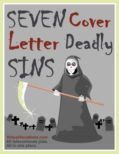 Seven Cover Letter Deadly Sins