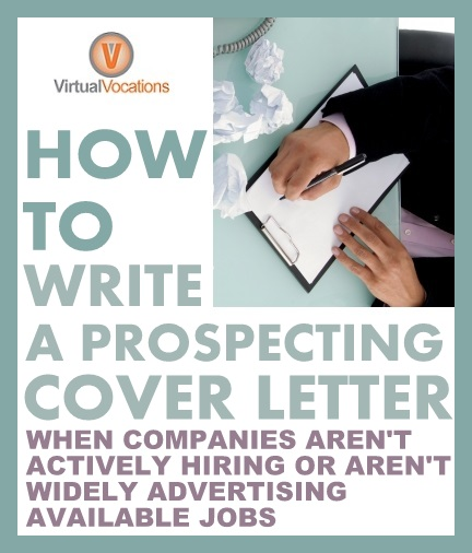 Cold Contact Cover Letter: How To Write A Prospecting Cover Letter