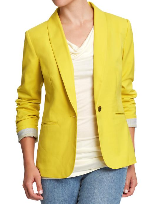 Collection Yellow Blazer Womens Pictures - Reikian