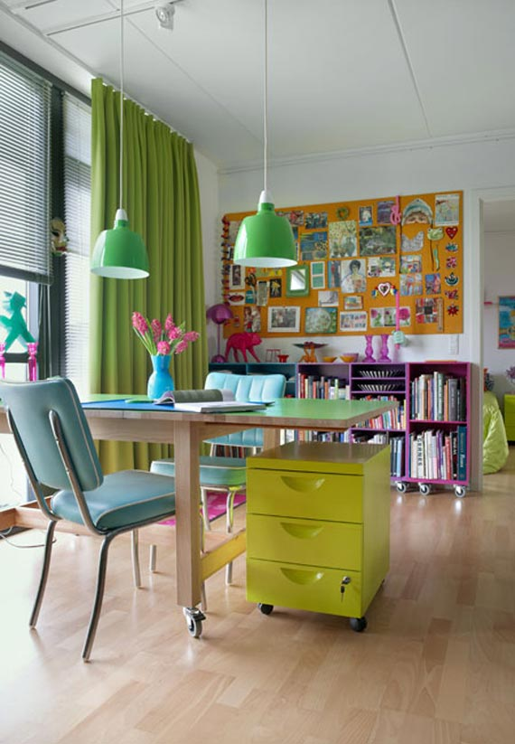 Colorful Home Office colorful home office ideas - virtual vocations
