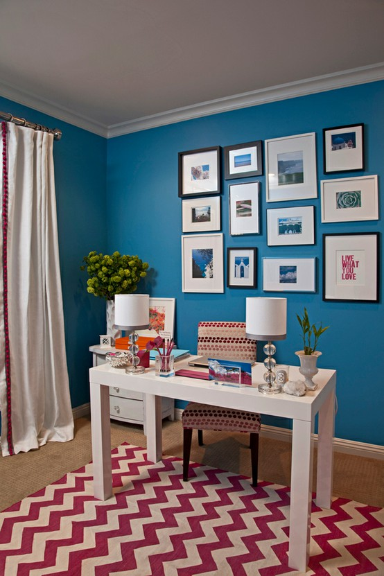 Blue home office Color Source Digsdigscom Virtual Vocations Beautiful Blue Home Offices Telecommute And Remote Jobs