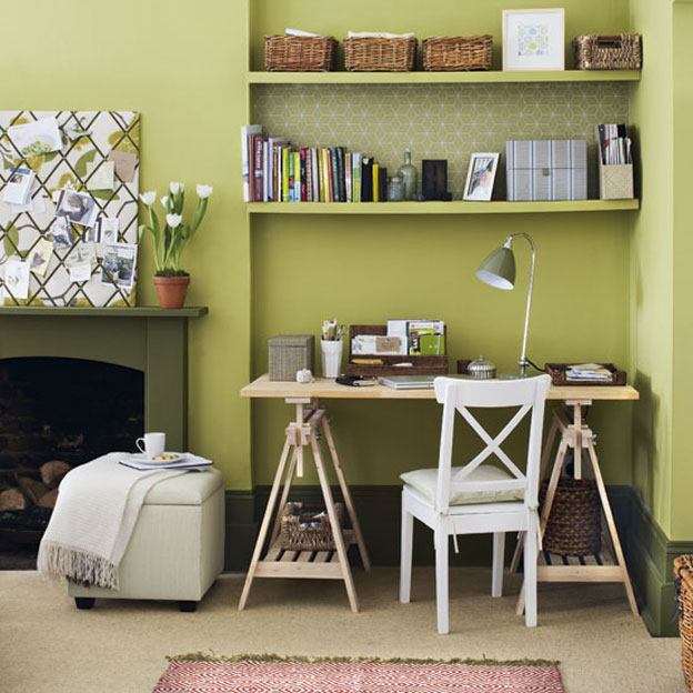 serene green home office calming office colors
