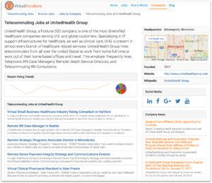 Remote Company Profile Page