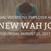 new wah jobs