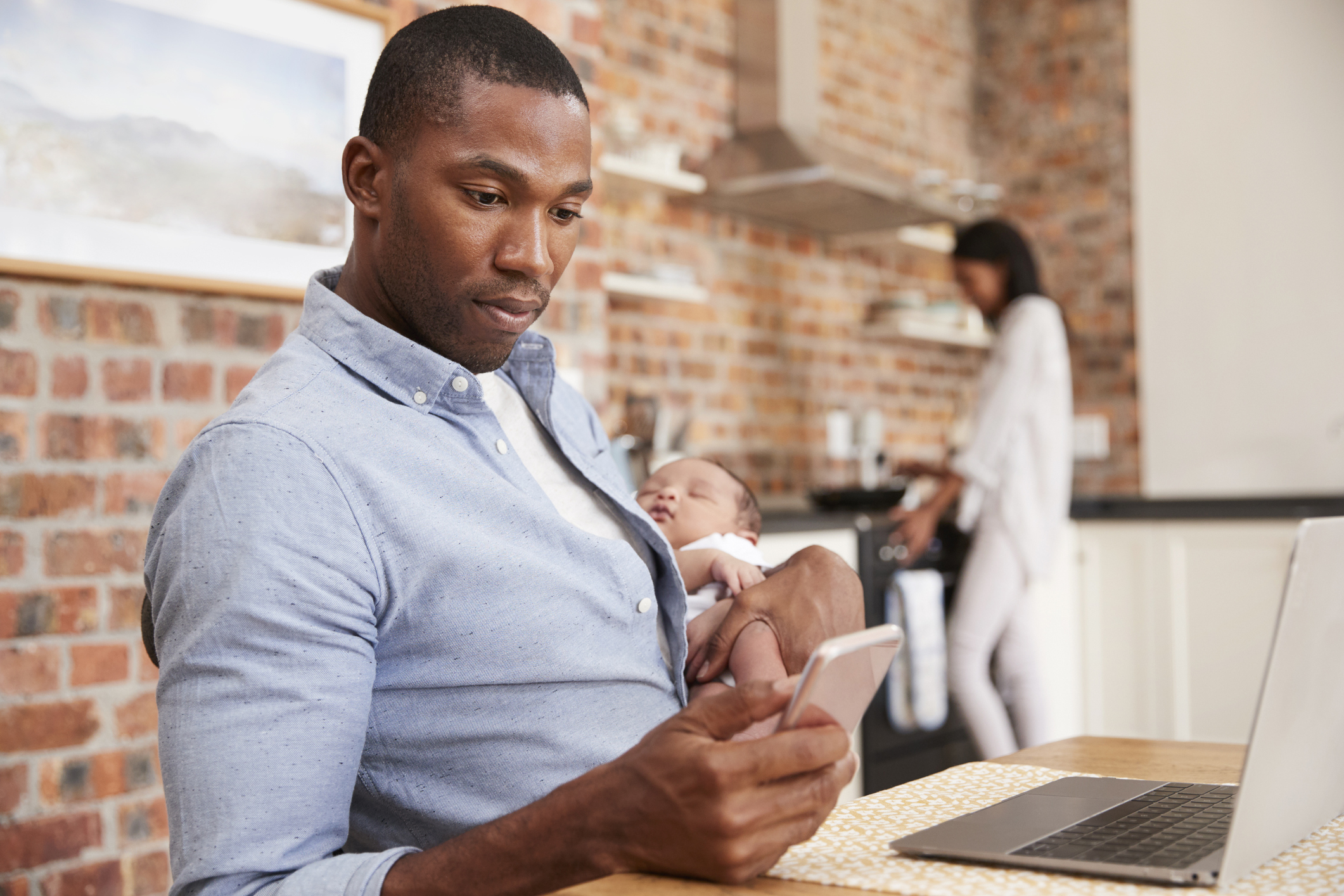 telecommuting parent