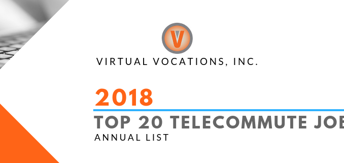 Top 20 Telecommute Jobs of 2018