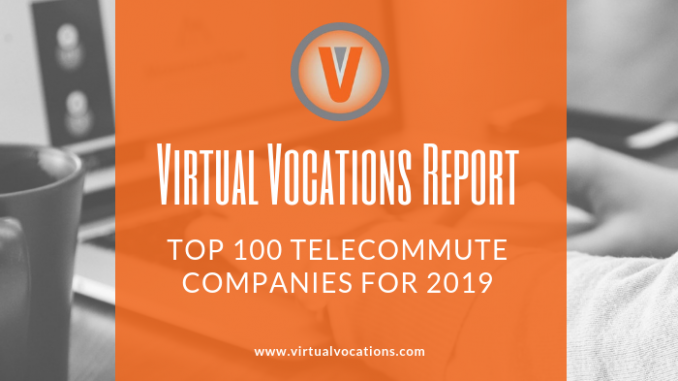 Top 100 Telecommute Companies for 2019