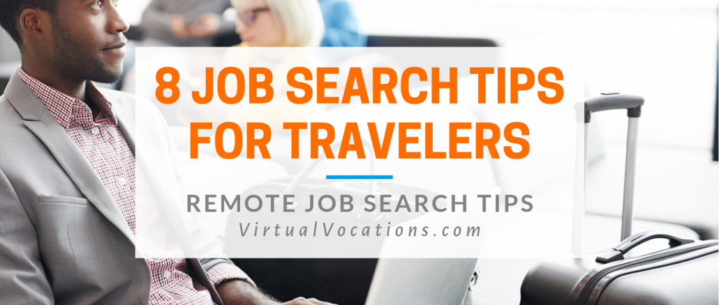 Remote job search tips for travelers