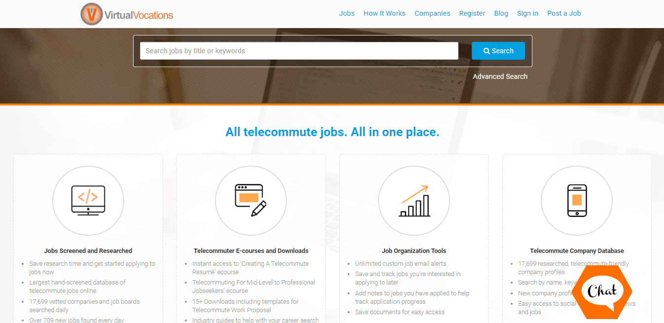 Virtual Vocations website - launch your remote career - telecommute and flexible jobs