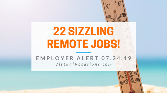 Virtual Vocations - 22 Summer Remote Job Openings