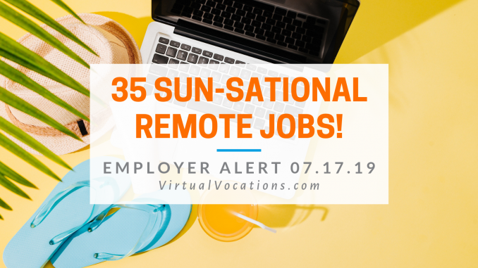 Virtual Vocations - 35 Telecommute Summer Jobs - Virtual Vocations Remote and Flexible Jobs