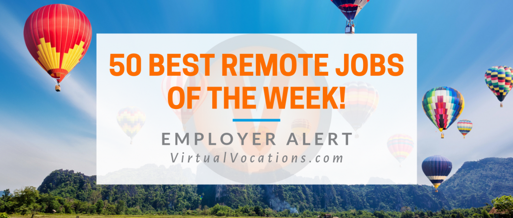 Virtual Vocations - 50 Best Remote Jobs