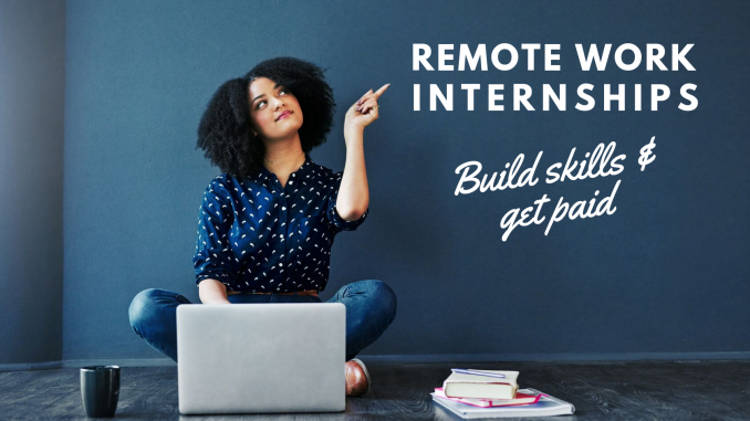 remote work internships - Virtual Vocations telecommute and remote jobs