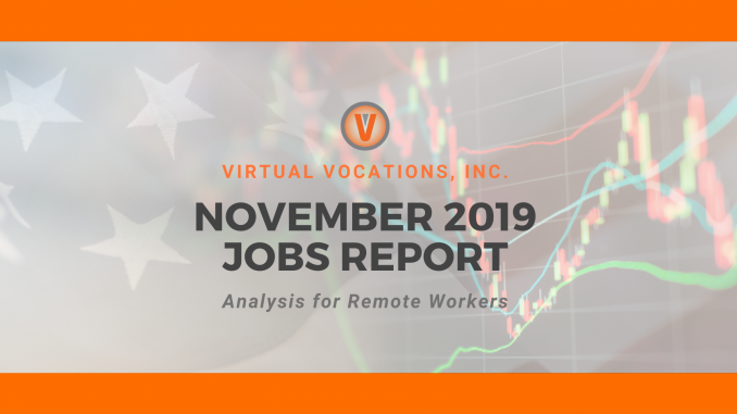 November 2019 Jobs Report - Virtual Vocations Telecommute and Remote Jobs