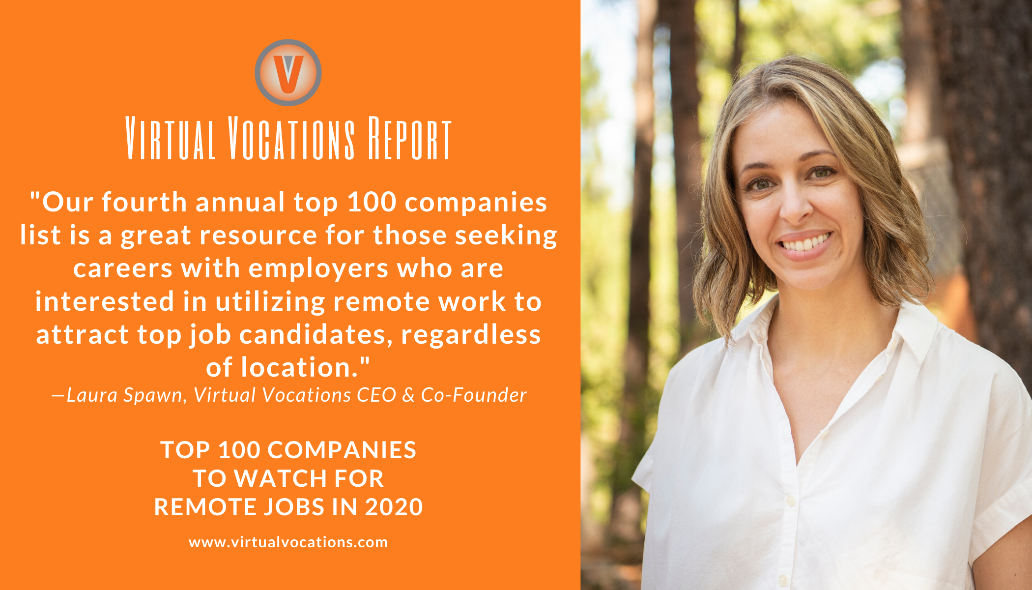 Virtual Vocations CEO Laura Spawn Quote - Top 100 Companies to Watch for Remote Jobs in 2020