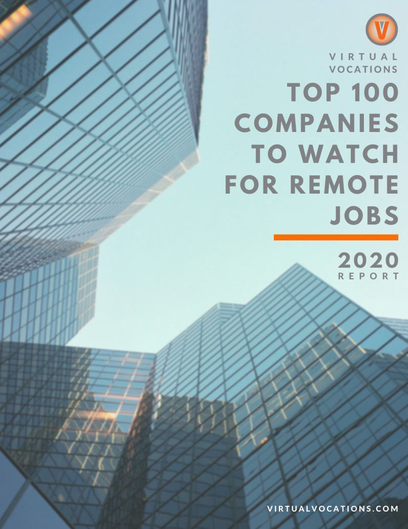 Virtual Vocations - Top 100 Companies to Watch for Remote Jobs in 2020
