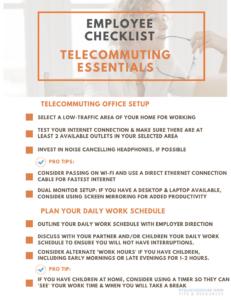 Employee Telecommuting Checklist