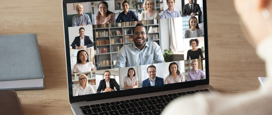 Video chats are a great way to start caring for newly remote employees.