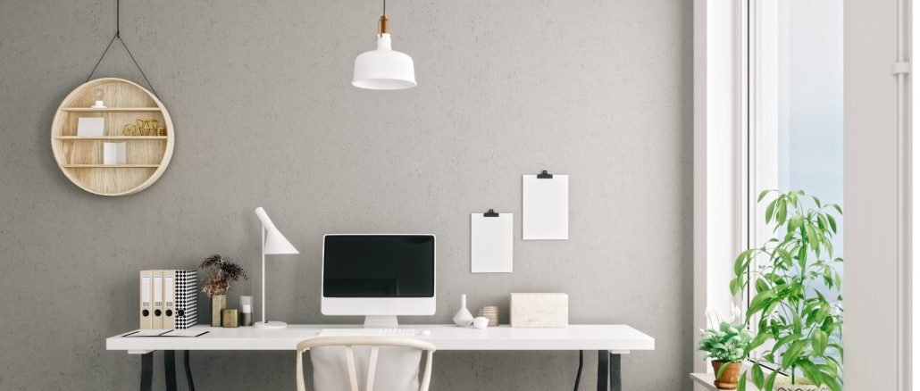 Home office design tips can help improve the ambiance of your workspace, improving harmony and productivity.