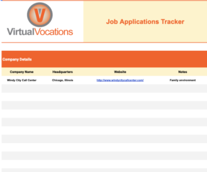 Remote Job Search Tracking