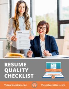 Resume Quality Checklist