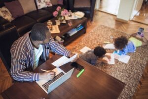 work-from-home parent
