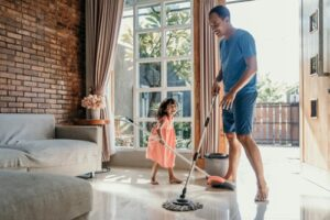 Chores are an integral part of bonding and getting things done for work-from-home parents.
