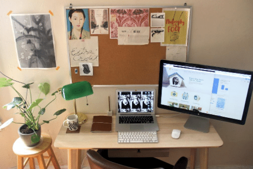 Daniel Caughill shows how to create a small office in a one-bedroom apartment by maximizing available space and going paperless.