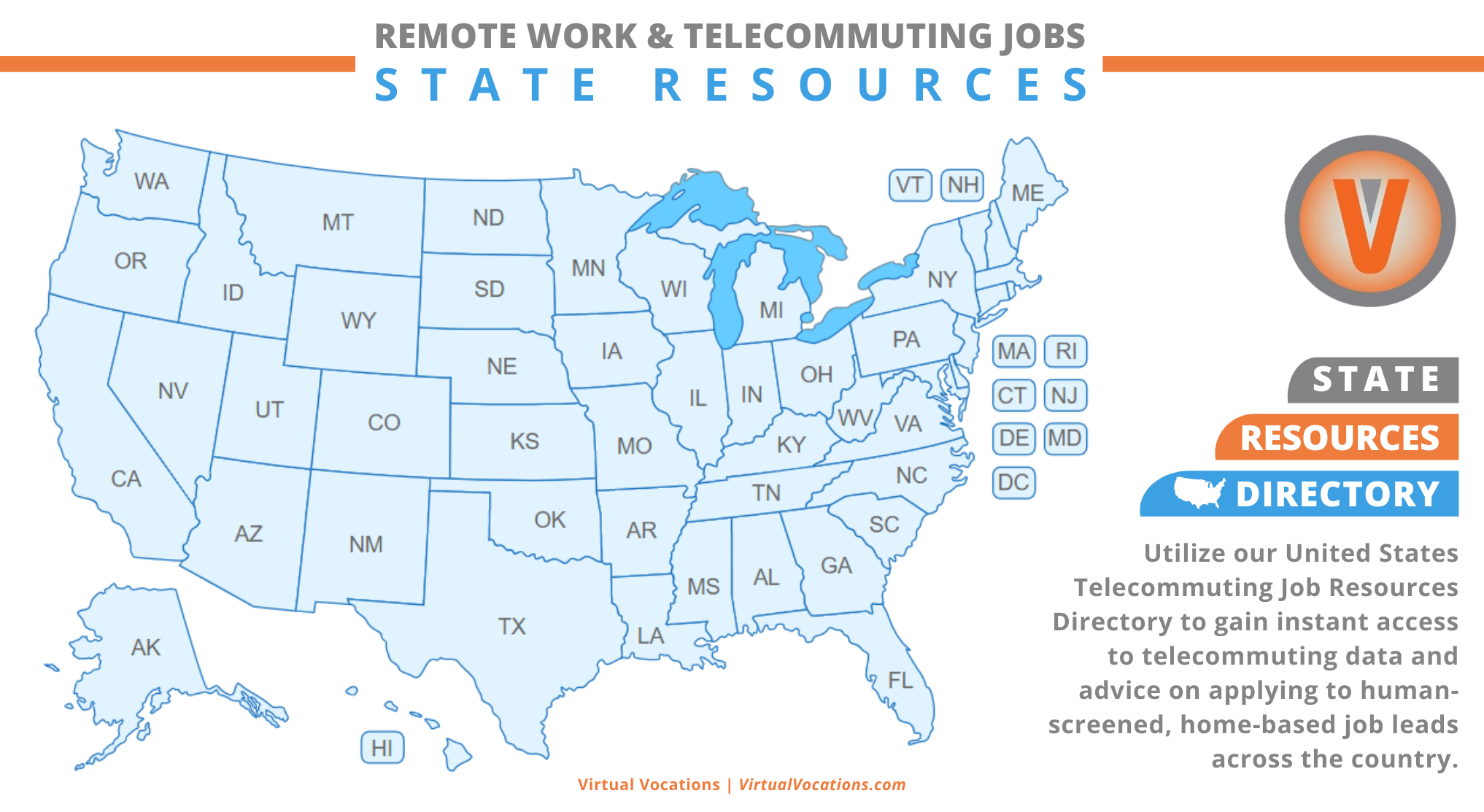 Remote Work and Telecommuting Jobs State Resources - Virtual Vocations