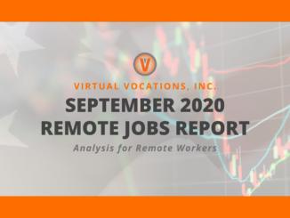 Virtual Vocations - September 2020 Remote Jobs Report
