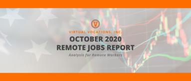 Virtual Vocations - October 2020 Remote Jobs Report