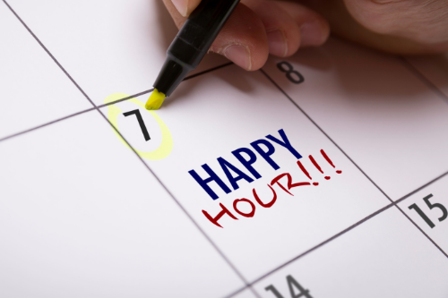 Virtual happy hours are a great social virtual team building activity.