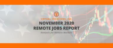 Virtual Vocations November Remote Jobs Report