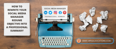 Rewriting your social media manager resume objective into a professional summary can improve your chances for employment.