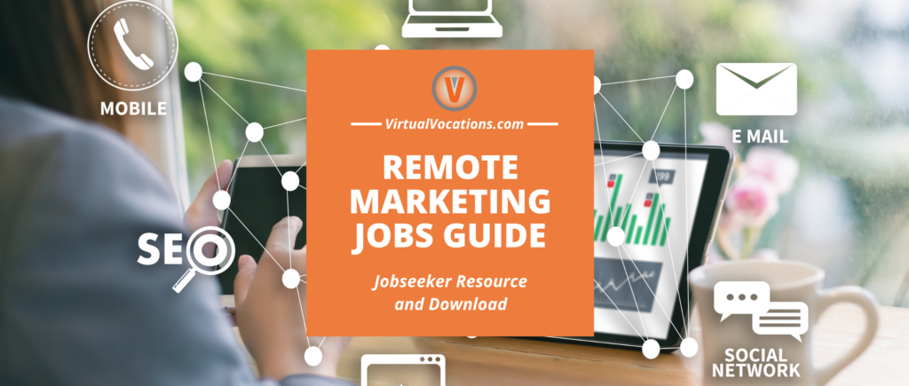 Virtual Vocations Guide to Remote Marketing Jobs - Resource and Download