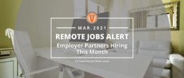Remote Jobs Alert Employer Partners March
