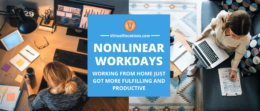 Women using nonlinear workdays to make working from home more productive.