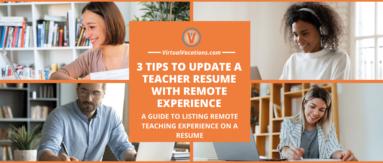 remote teachers giving online classes