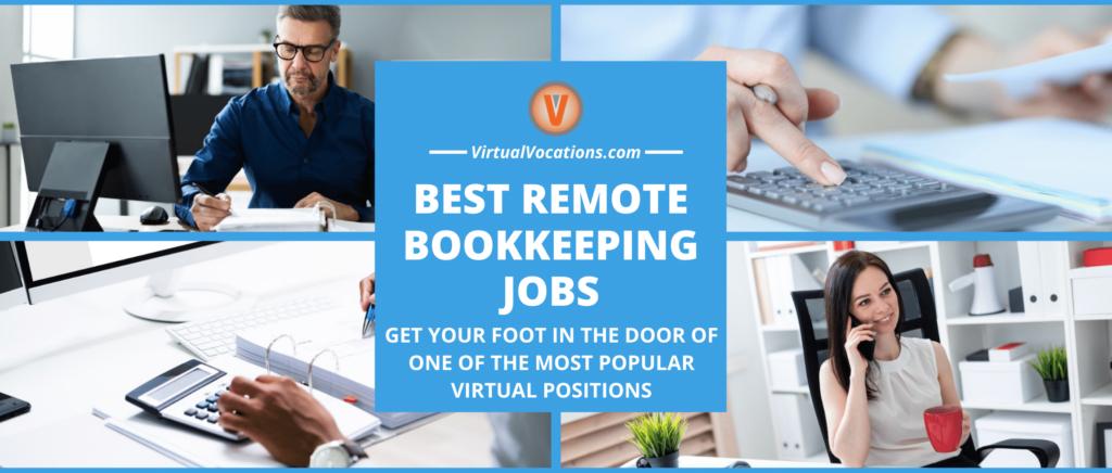 People working remote bookkeeping jobs.