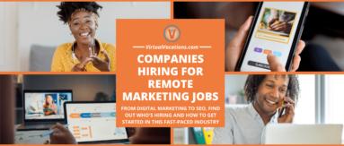 People working remote marketing jobs.