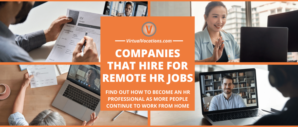 Collage of people in remote HR jobs.