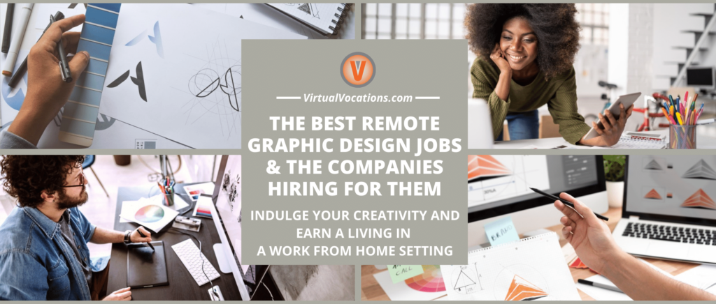 Collage of people doing remote graphic design jobs