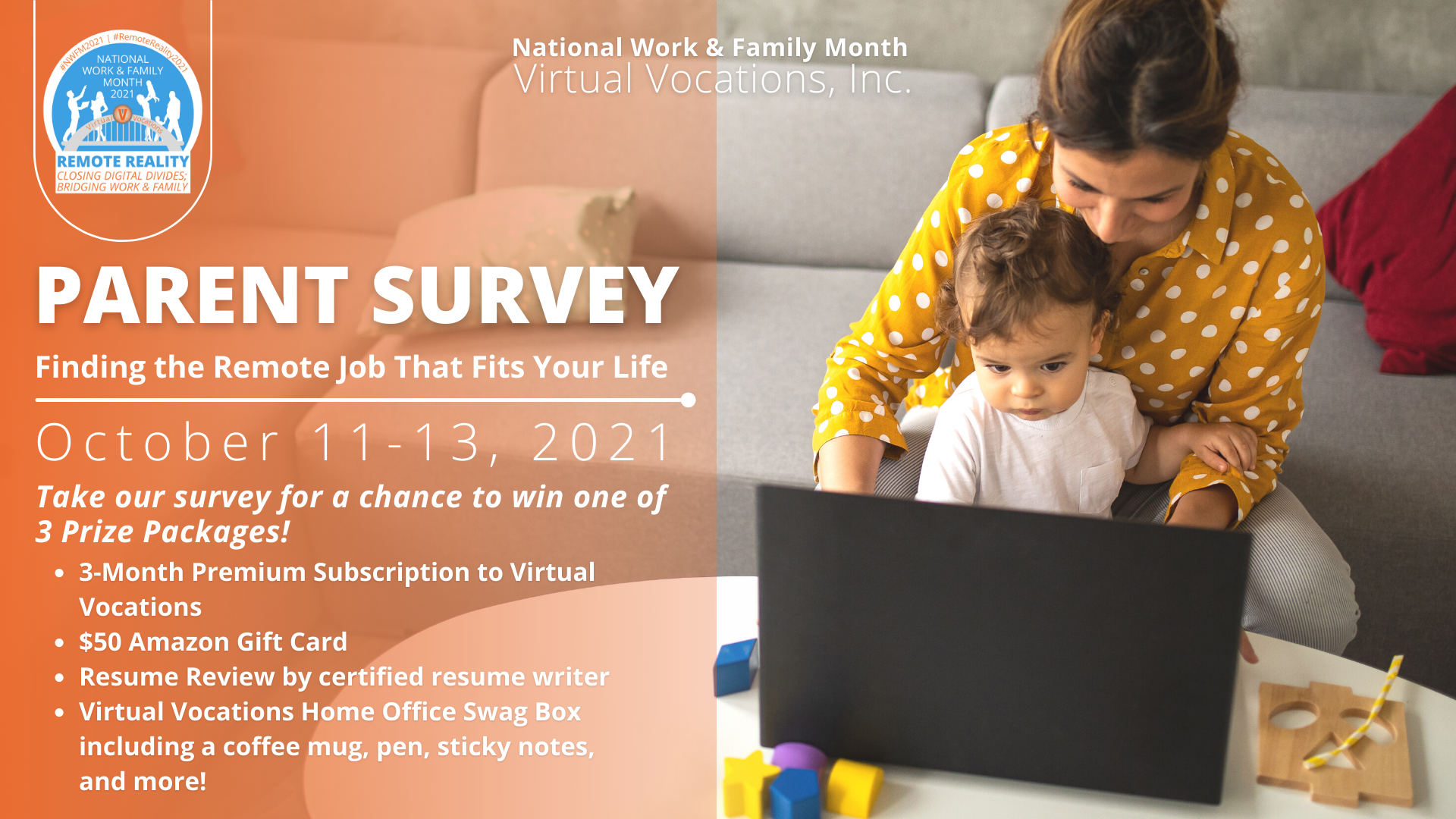 National Work and Family Month 2021 Parent Survey Virtual Vocations