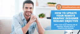 how to write your remote graphic designer resume objective
