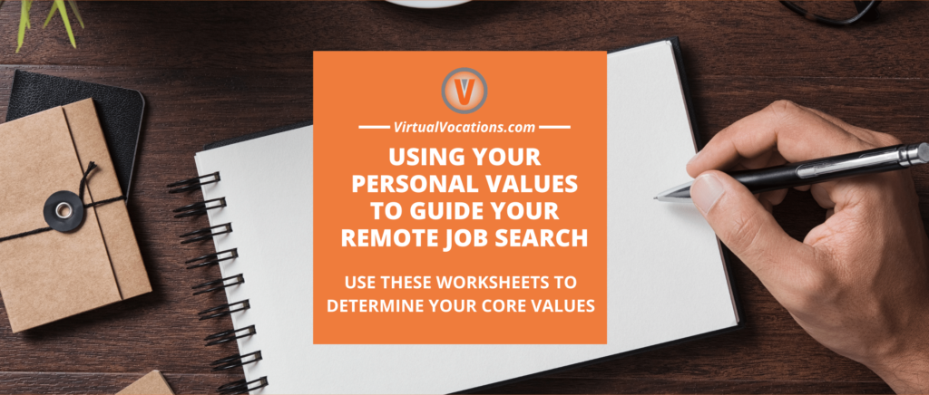 Using your core values to guide your remote job search